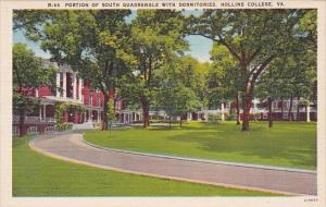 Virginia Roanoke Portion Of South Quadrangle With Dormitories Hollin College