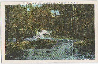 Kissing Bridge Lovers Lane Freeport LI NY -white border-