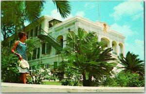 ST. CROIX, U.S. Virgin Islands Postcard Government House Building View c1960s