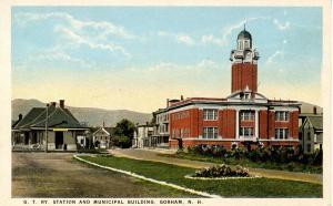 NH - Gorham. Grand Trunk Railroad Station, Depot & Municipal Building