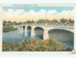 W-Border BRIDGE SCENE Dayton Ohio OH d4902