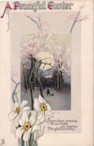 Tucks Easter Landscape Scene 1917