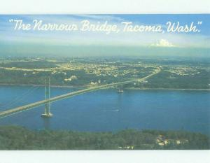 Unused Pre-1980 BRIDGE SCENE Tacoma Washington WA HQ9478-12