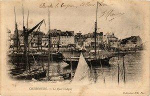 CPA CHERBOURG - Le Quai Caligny (128263)