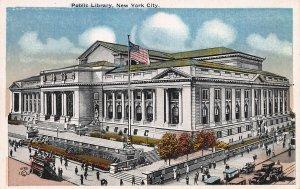 Public Library, 42nd St. & 5th Ave., Manhattan, N.Y.C., Early Postcard, Unused