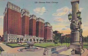 Illinois Chicago The Stevens Hotel 1954 Curteich