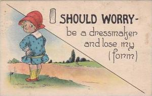 Fred Cavally  I Should Worry Series  Be A Dressmaker 1915