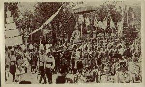 siam thailand, King Rama VI Vajiravudh during Crowning (1911) S. Hatano RPPC