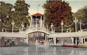 New Haven, Connecticut, CT, USA Postcard Shooting the Chutes, White City, Sav...