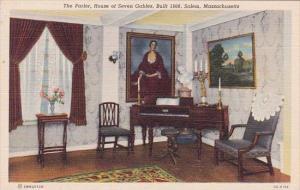 The Parlor House Of Seven Gables Built 1668 Salem Massachusetts