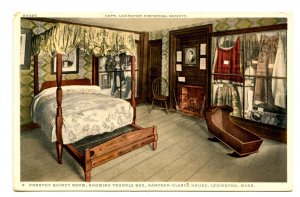 MA - Lexington. Hancock-Clarke House, Dorothy Quincy Room, Trundle Bed