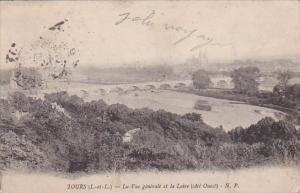 France Tours La vue generale et la Loire 1914