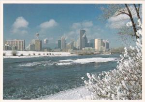 Canada Winter Skyline Of Calgary Alberta