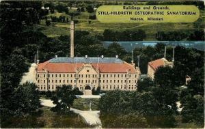 Macon MO~Circle Drive & Grounds at Still-Hildreth Osteopathic Sanatorium 1950