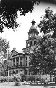Paw Paw Michigan~Van Buren County Court House~1950s RPPC
