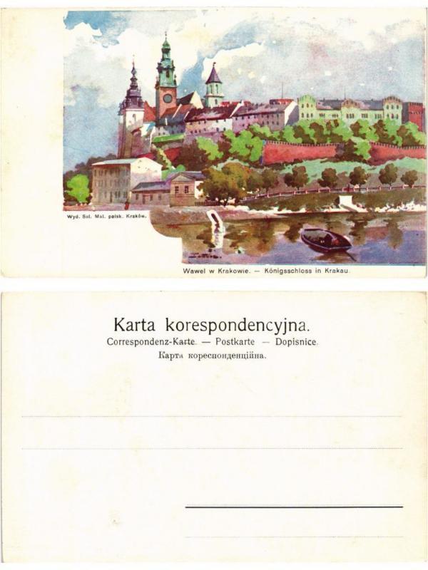 CPA AK KRAKOW KRAKAU Wawel Konigschloss POLAND (371164)