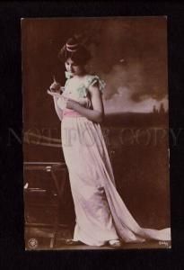074412 GLAMOUR Lady w/ LOVE LETTER Vintage PHOTO NPG