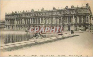 Postcard Old Versailles Chateau on the Park Facade