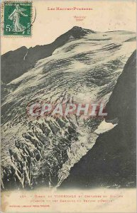 Old Postcard Hautes Pyrenees Vignemale Massif and Glacier Cracks Ossoue