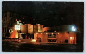 Postcard CA Hollywood Ciro's Restaurant at Night c1950s Sunset Strip F27