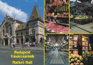 Hungary Budapest Vasarcsarnok Market Hall with Interior Views