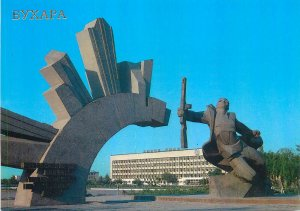 Postcard Uzbekistan Bukhara Soldiers' Monument WWII 1941-1945