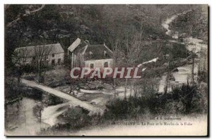 Old Postcard Crozant Bridge and the Mill of Madness