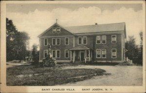 St. Saint Joseph NY Saint Charles Villa c1920 Postcard