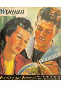Postcard 50 Golden Years of Woman Magazine 1937-87 Repro Cover Feb 6 1943 E00