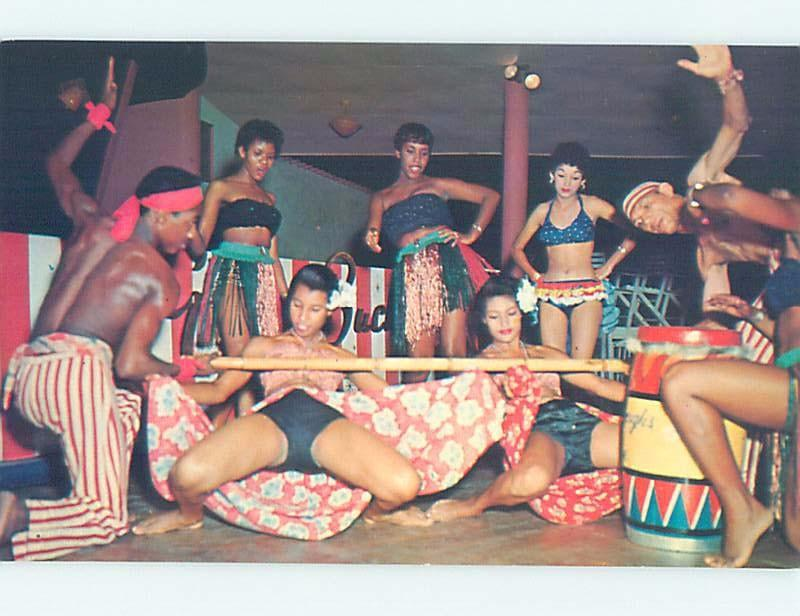 Pre-1980 RISQUE POSTCARD - WOMEN DOING LIMBO Country Of Jamaica F5688