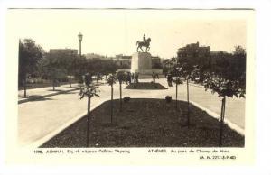 RP; Athenes. Au parc de Champ de Mars, Greece 1910-30s