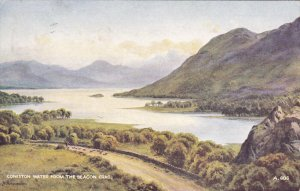 CUMBRIA, England, PU-1950; Coniston Water From The Beacon Crag