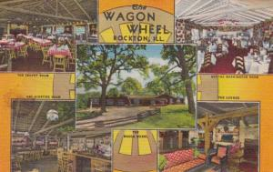 Illinois Rockton The Wagon Wheel Lodge Multi View Curteich