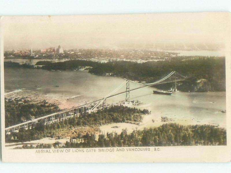 1940's rppc NICE VIEW Vancouver British Columbia BC W0906