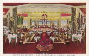 Illinois Chicago Edgewater Beach Hotel The Marine Dining Room