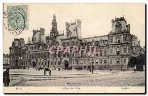 Paris - 4 - Town Hall Old Postcard