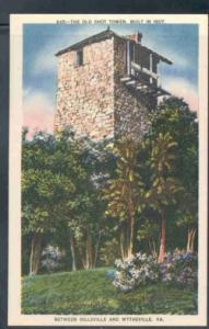 Virginia postcard Old Shot Tower Hillsville