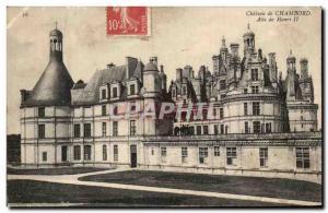 Old Postcard Chambord Castle Henry II Wing