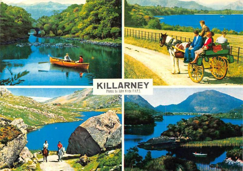 Killarney Lakes and Fells Valley Horses Carriage Lake Boats Bridge