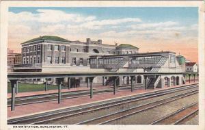 Vermont Burlington Union Railroad Station Curteich
