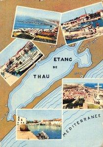 France Etang de Thau Promenade Autour de l'Etang Harbour Beach Postcard