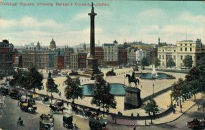 UK Trafalgar Square showing Nelson's Column London 04.42