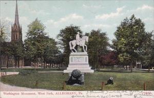 Washington Monument West Park Alleghany Pennsylvania 1908