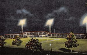 Middletown Ohio Armco Baseball Field At Night Antique Postcard K32069