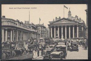 London Postcard - Traffic at Bank and Royal Exchange    RS16381