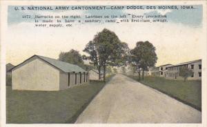 Iowa Des Moines Barracks and Latrines U S National Army Cantonment Camp Dodge
