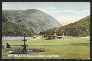 White Mountains Crawford House RR Station Crawford New Hamspire Used c1910