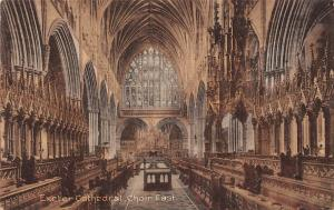 Exeter Cathedral Choir East Interior view Cathedrale Dom