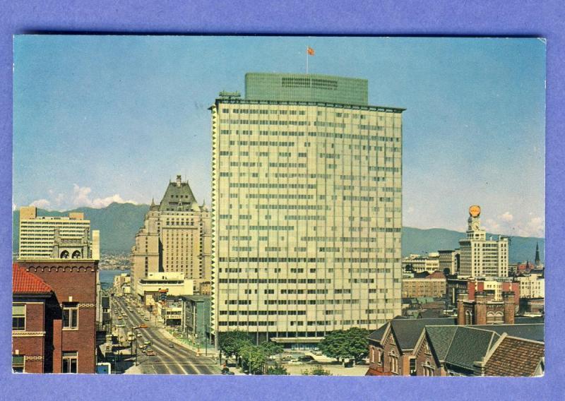 Vancouver, British Columbia, Canada Postcard, Burrard Street