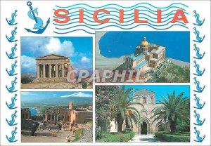 Modern Postcard Panorama Sicilia